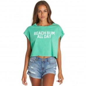 Billabong Women's Beach Bum Crop Tee - Jade