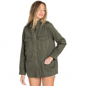 Billabong Women's Right Left Right Military Jacket - Olive