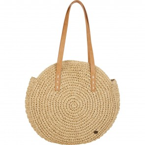 Billabong Women's Round About Straw Tote Bag - Natural