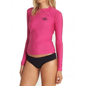Billabong Women's Core Performance Long Sleeve Rash Guard - Bright Orchid