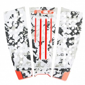 FCS Julian Wilson Traction - Grey Camo/Blood Orange - Grom Size