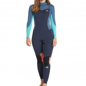 Billabong Women's Furnace Synergy 4/3 Back Zip Wetsuit - Slate