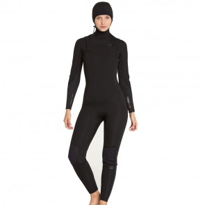 Billabong Women's  Synergy 5/4 Hooded  Wetsuit - Black