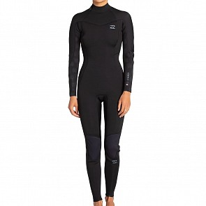 Billabong Women's Synergy 3/2 Back Zip Wetsuit - Black Palms