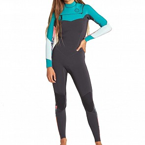 Billabong Women's Salty Dayz 3/2 Chest Zip Wetsuit - Palm Green