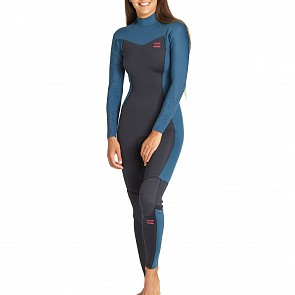 Billabong Women's Furnace Synergy 3/2 Back Zip Wetsuit - Black Marine