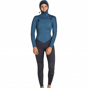 Billabong Women's Furnace Synergy 5/4 Hooded Chest Zip Wetsuit