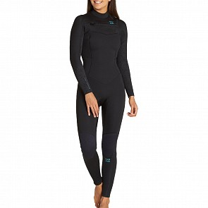 Billabong Women's Furnace Synergy 4/3 Chest Zip Wetsuit - Black