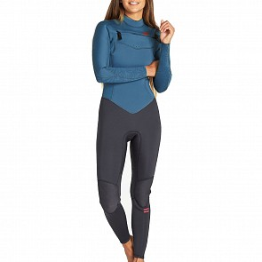 Billabong Women's Furnace Synergy 3/2 Chest Zip Wetsuit - Black Marine