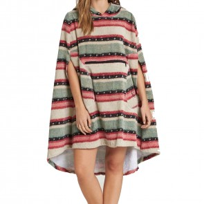 Billabong Women's Hooded Towel Changing Poncho - Sugar Pine