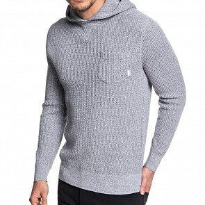 Quicksilver Kempton Hooded Knit Sweater - Medium Grey Heather