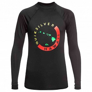 Quiksilver Kona Long Sleeve Rash Guard - Black