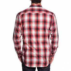 Quicksilver Kyoto Long Sleeve Shirt - Garnet Hombre