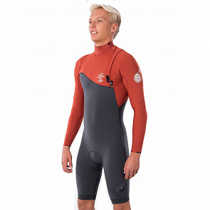 Rip Curl E-Bomb Pro 2mm L/S Zip Free Spring Wetsuit - Front