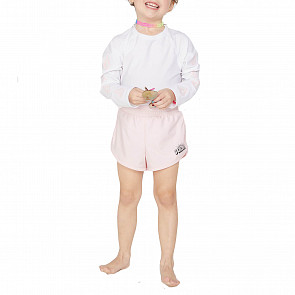 Volcom Youth Little Girl's Wavello Boardshorts - Blush Pink - front