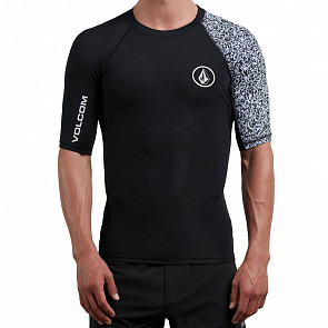 Volcom Lido Block Short Sleeve Rashguard - Black - Front