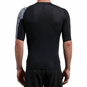 Volcom Lido Block Short Sleeve Rashguard - Black