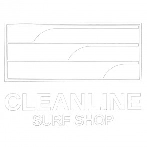 Cleanline Surf Lines Die Cut Sticker - White