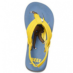 Reef Jonas Claesson Little Ahi Sandals - Surfing Sloth - Top