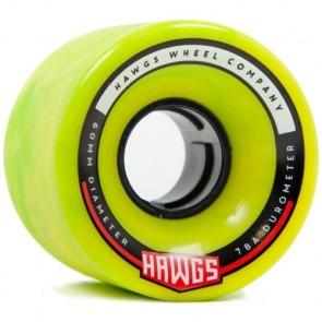 Landyachtz 60mm Chubby Hawgs Wheels - Green Yellow
