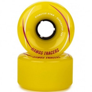 Landyachtz 67mm Tracer Hawgs Wheels - Yellow