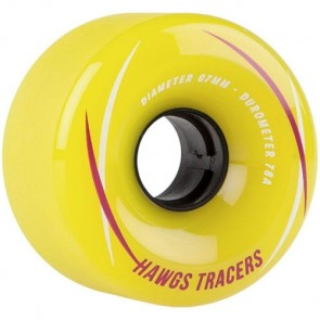 Landyachtz 67mm Tracer Hawgs Wheels - Yellow