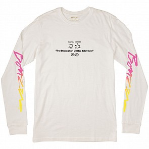 RVCA Campbell Bros Long Sleeve Tee - Antique White
