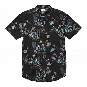Billabong Sundays Floral Short Sleeve Shirt - Black