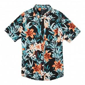RVCA Montague Short Sleeve Shirt - Black