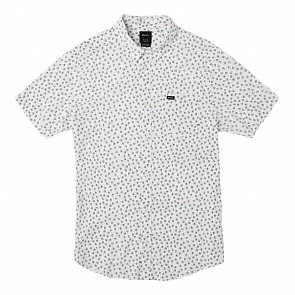 RVCA Ficus Floral Short Sleeve Shirt - Antique White