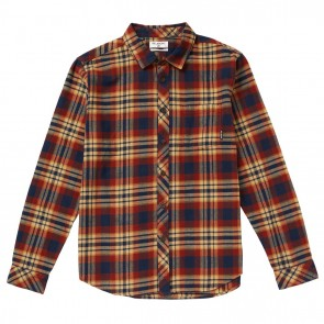 Billabong Coastline Long Sleeve Plaid Flannel - Gravel