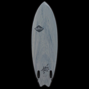 Softech Mason Twin 5'10 Soft Surfboard - Gunmetal Black
