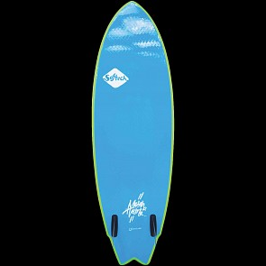 Softech Mason Twin 5'6 Soft Surfboard - Lime/Yellow