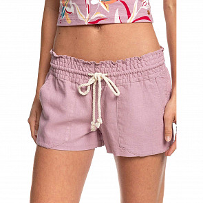 Roxy Women's Oceanside Beach Shorts - Mauve - front