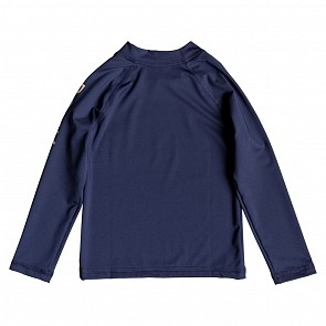Roxy Youth Girls 2-6 Whole Hearted Long Sleeve Rash Guard - Medieval Blue