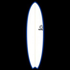 Torq Mod Fish 6'10 x 21 3/4 x 2 3/4 Surfboard - Blue/White - Top