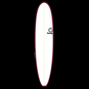 Torq Mini Longboard 8'0 x 22 x 3 Surfboard - Burgundy/White - Top