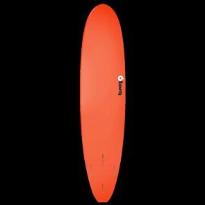 Torq Mini Longboard 8'0 x 22 x 3 Surfboard - Red/Yellow/Orange