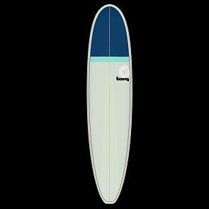 Torq Mini Longboard 8'0 x 22 x 3 Surfboard - Stone/Seagreen/Navy - Deck