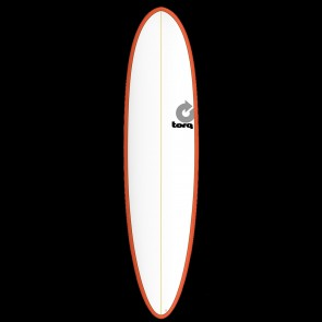 Torq Mod Fun 7'6 x 21 1/2 x 2 7/8 Surfboard - Red/White - Top