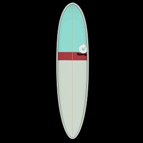Torq Mod Fun 7'6 x 21 1/2 x 2 7/8 Surfboard - Seagreen/Red/Seagreen - Deck
