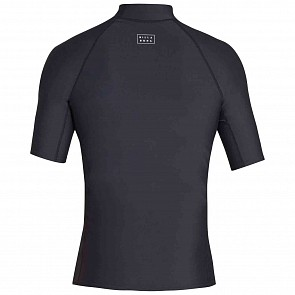 Billabong All Day Wave Performance Fit Short Sleeve Rash Guard - Black