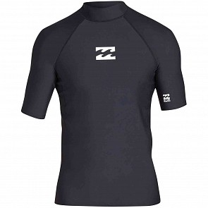 Billabong All Day Wave Performance Fit Short Sleeve Rashguard - Black