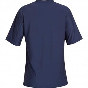 Billabong Team Stripe Loose Fit Short Sleeve Rash Guard - Navy