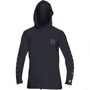 Billabong Unity Hooded Long Sleeve Rashguard - Black