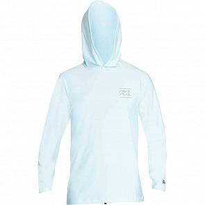 Billabong Unity Hooded Long Sleeve Rashguard - Coastal Blue