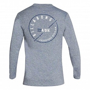 Billabong Breaker Loose Fit long Sleeve Rash Guard - Heather Grey