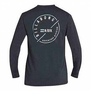 Billabong Breaker Loose Fit Long Sleeve Rash Guard - Heather Black