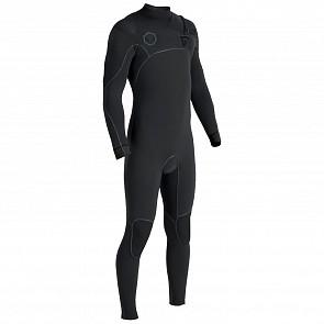 Vissla North Seas 3/2 Chest Zip Wetsuit - Black 2