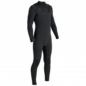 Vissla North Seas 4/3 Chest Zip Wetsuit - Black 2
